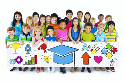 Group of Children with Learn Concept